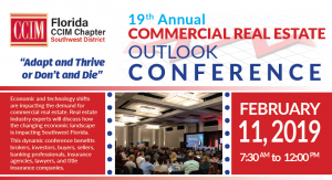 19th Annual Commercial Real Estate Outlook Conference @ HYATT REGENCY COCONUT POINT