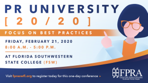 PR University 20/20: Focus on Best Practices @ Florida Southwestern State College