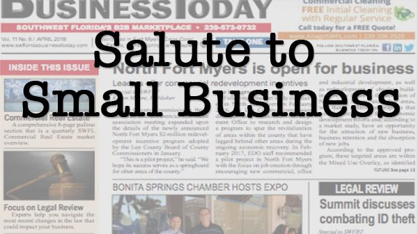 Small business salute graphic