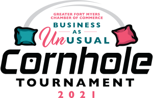 Greater Fort Myers Chamber of Commerce Business As Unusual Cornhole Tournament 2021 @ Florida Rep's Outdoor Venue, Downtown Fort Myers  |  |  |